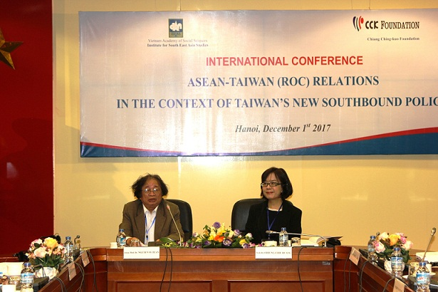 Assoc. Dr. Nguyen Sy Tuan, Institute of Southeast Asian Studies and Prof.Dr. Chiung - Chiu Huang, National Chengchi University, Taiwan