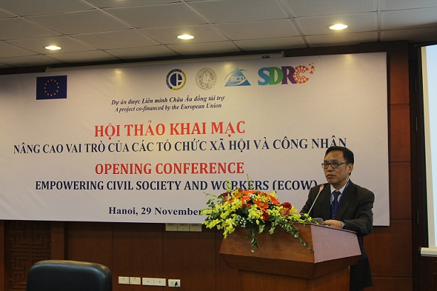 Assoc.Prof.Dr.  Nguyen An Ha delivered the opening speech at the workshop