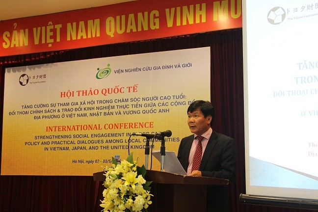 Prof. Dr. Nguyen Quang Thuan delivered the opening speech at the workshop