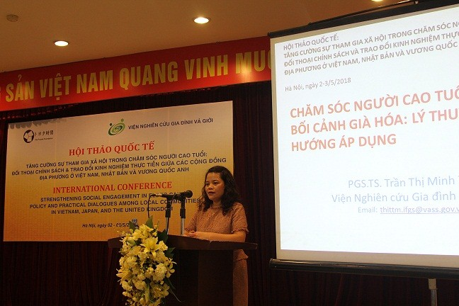 Assoc.Dr. Tran Thi Minh Thi presented at the seminar