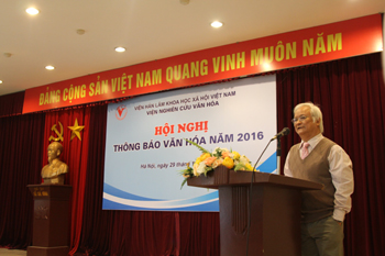 Prof. Dr.  Le Hong Ly made a speech in the conference