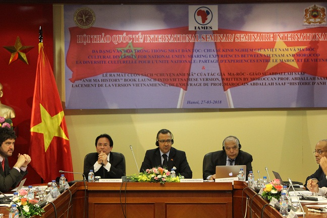 Assoc. Le Phuoc Minh (left), Prof. Abdallah Saaf (middle), Ambassador of the Kingdom of Morocco (right)