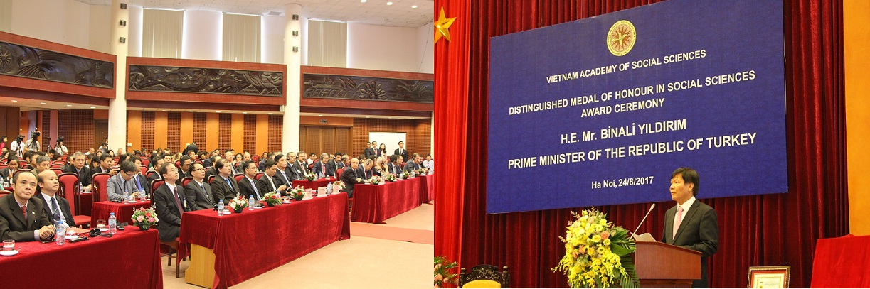 Prof.Dr. Nguyen Quang Thuan - President of the Academy, delivered a speech at the meeting
