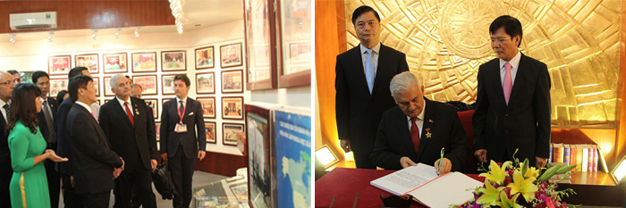 Prime Minister Binali Yıldırım visits and signings at the Traditional Chamber of Vietnam Academy of Social Sciences