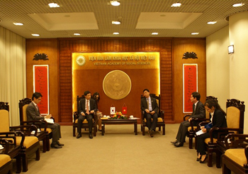 Meeting between Korean Ambassador and VASS's Vice President